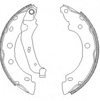 КОЛОДКИ ТОРМ. БАРАБ. KANGOO EXPRESS BRAKE SHOES KIT